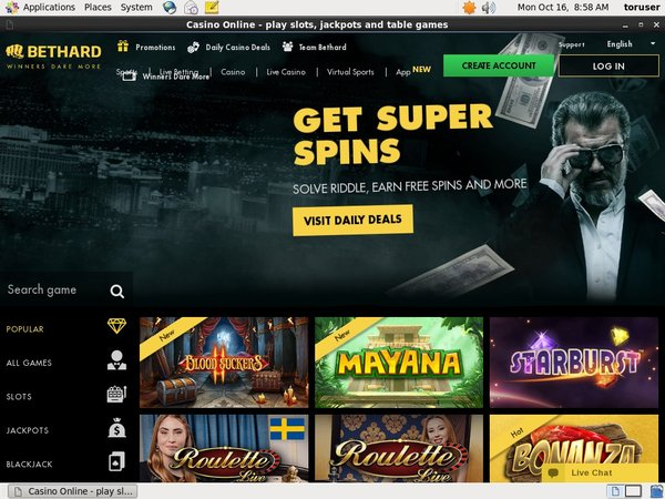 BetHard Casino Cash Codes