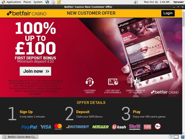 Betfair Euros No Deposit