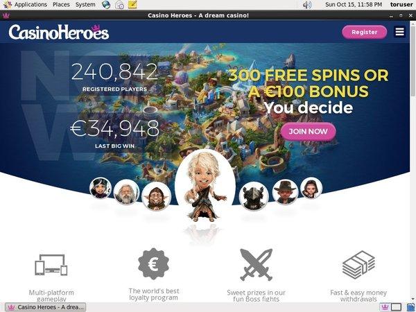 Casino Heroes New Player