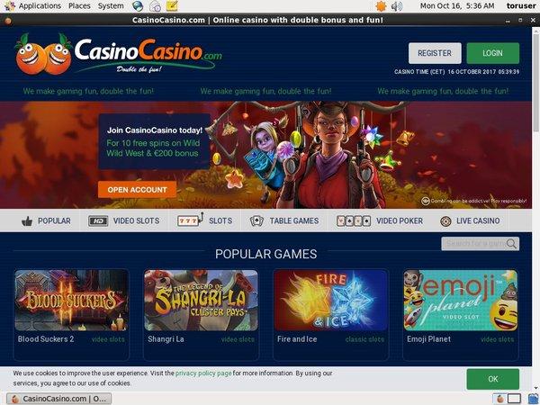 Casinocasino игровые автоматы