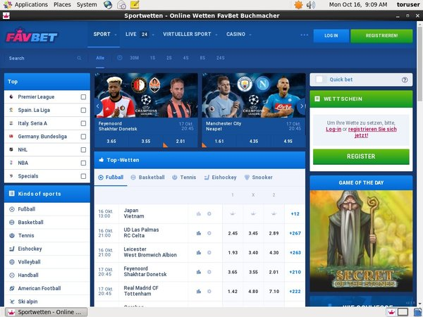 FavBet Sports Odds