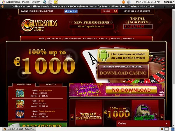 Get Silver Sands Casino Free Bet