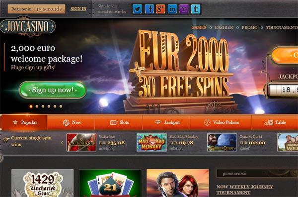 Joy Casino Registrieren