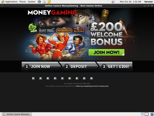Money Gaming Register