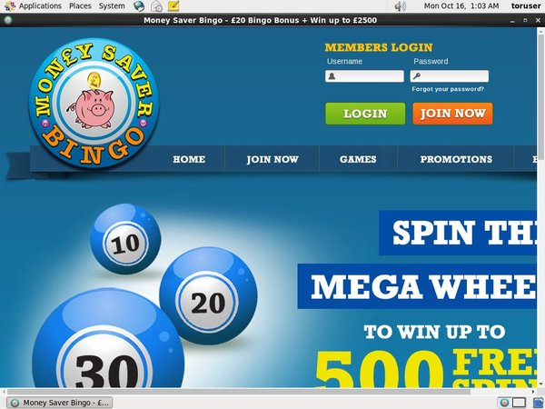 Money Saver Bingo Mobil Casino