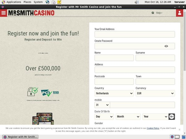 Mr. Smith Casino Open Account