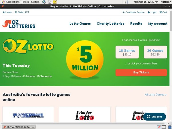 Ozlotteries Registrieren