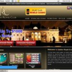 Royal Casino Club Deposit Page
