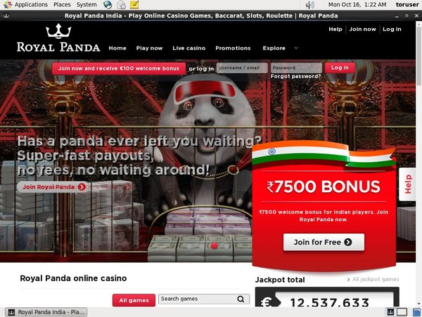Royal Panda Welcome Bonuses