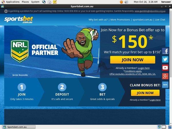 SportsBet.com.au Money Bookers