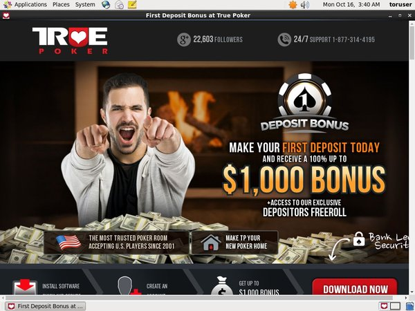 Truepoker Welcome Bonus Offer
