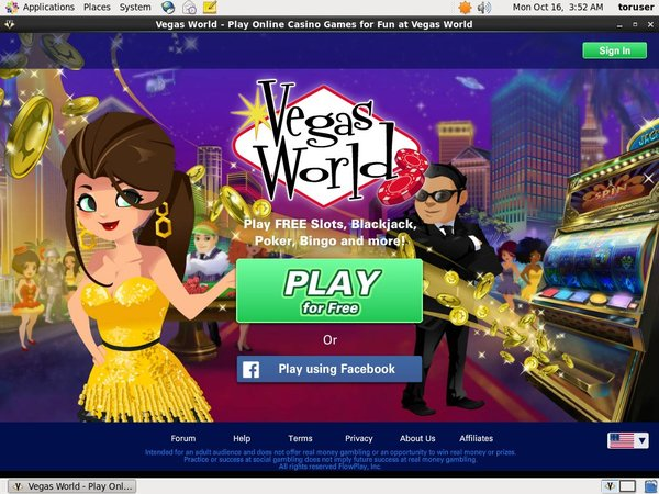 Vegas World Use Paypal