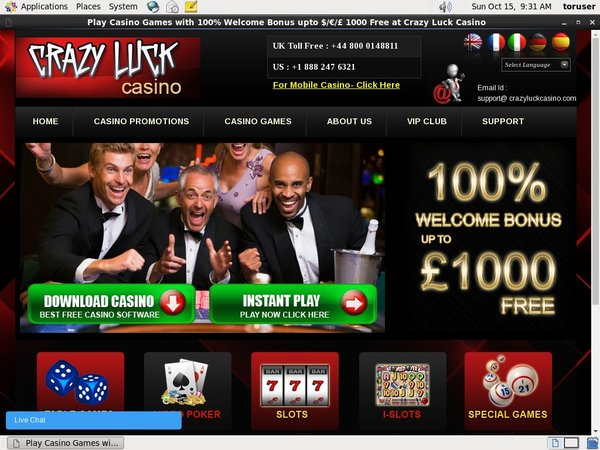 Voucher Casino Luck Casino