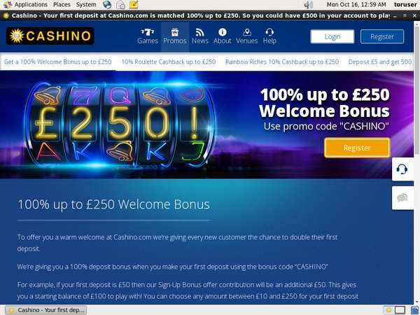 Cashino Promotions Offer