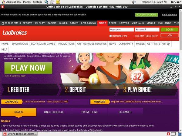 Welcome Offer Ladbrokes Bingo