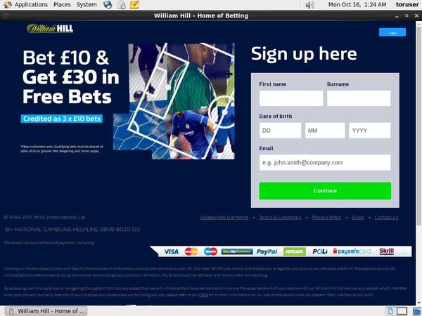 Williamhill Reload Bonus