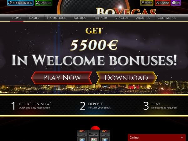Bovegas Casino Test