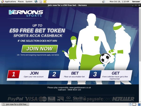 Free Spins Vernons Sports