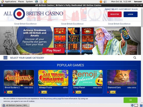 All British Casino Welcome Bonus No Deposit