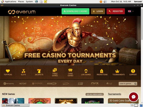 Everum Casino 1st Deposit Bonus