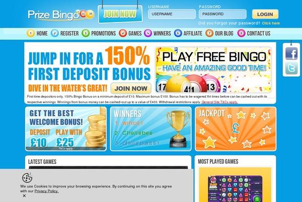 Prize Bingo Bonus Offer