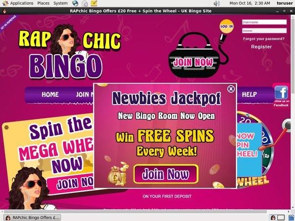 Rap Chic Bingo Registration Form