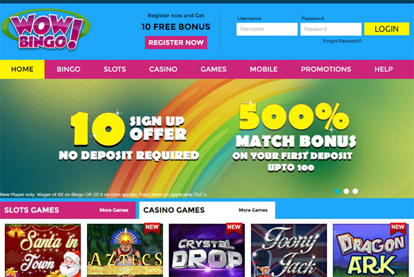 Wowbingo Online Casino Offers