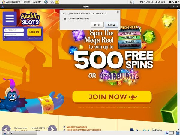 Aladdinslots Promotional Code