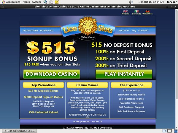 Lion Slots Bonus Codes