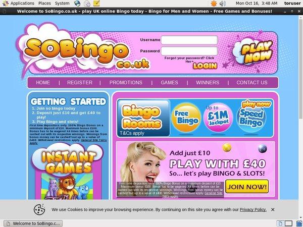 So Bingo Paybyphone