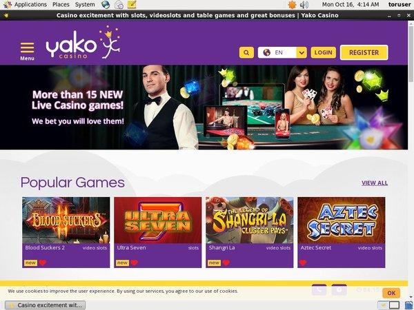 Yako Casino Make Deposit