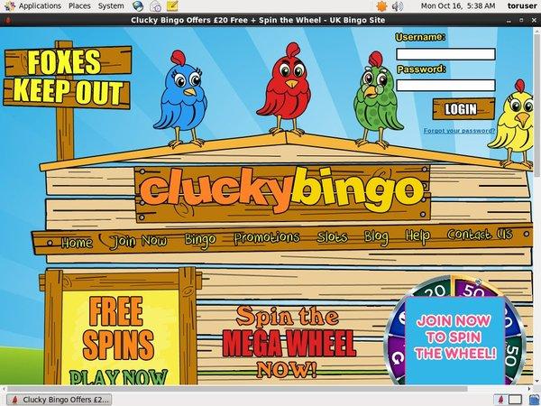 Clucky Bingo Freispiele