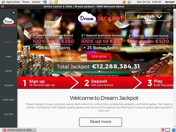 Dreamjackpot Add Money