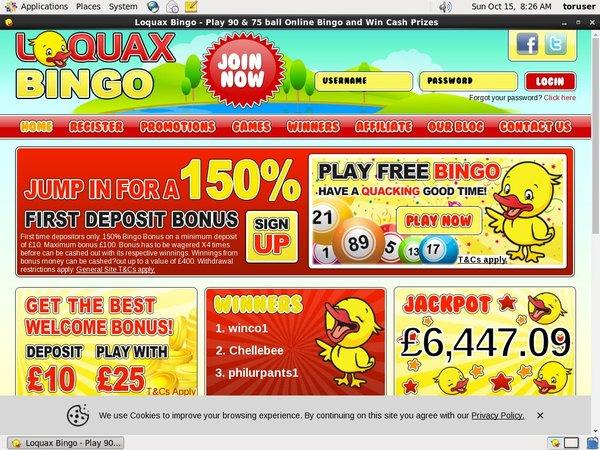 Loquaxbingo Free Bets