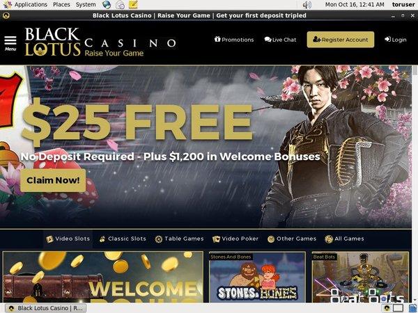 Black Lotus Casino Match Bonus