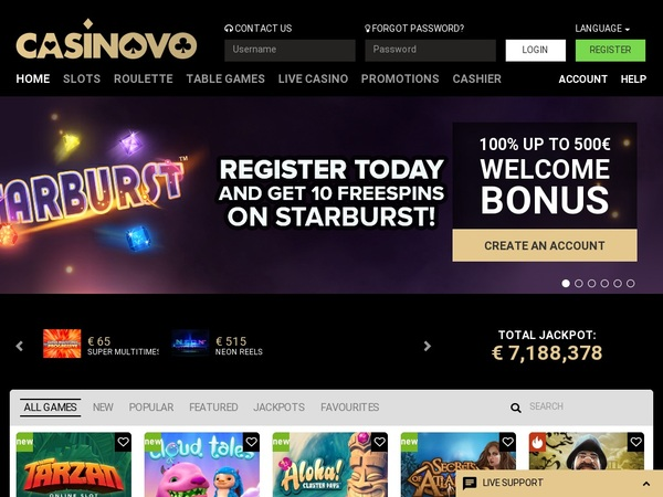 Casinovo Free Games