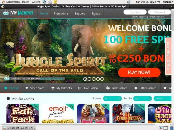 My Jackpot Casino Bet Free