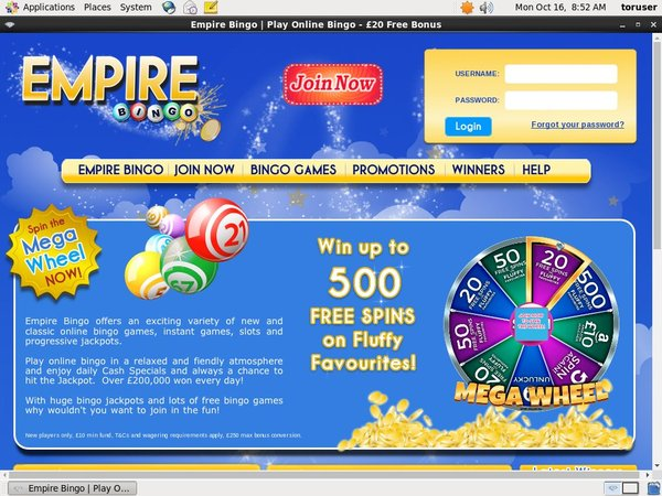 Free Spins Empirebingo
