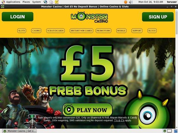 Monstercasino 200 Bonus
