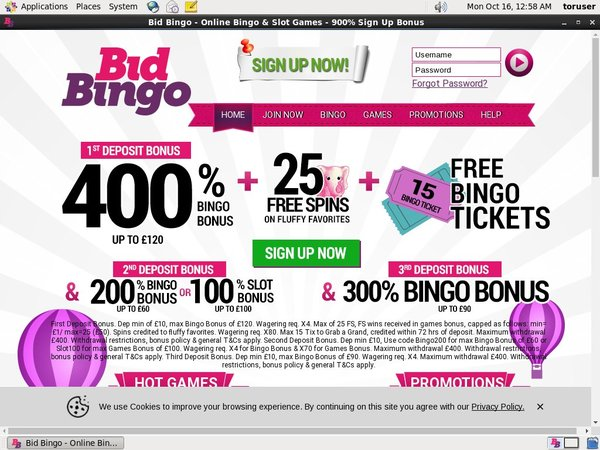 Bidbingo Minimum Bet