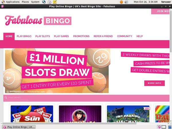 Fabulous Bingo Advert