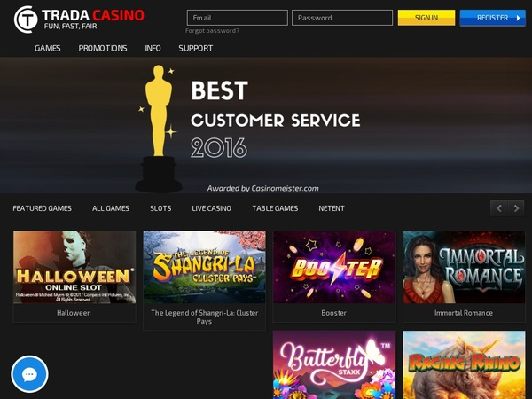 Trada Casino Reload Bonus