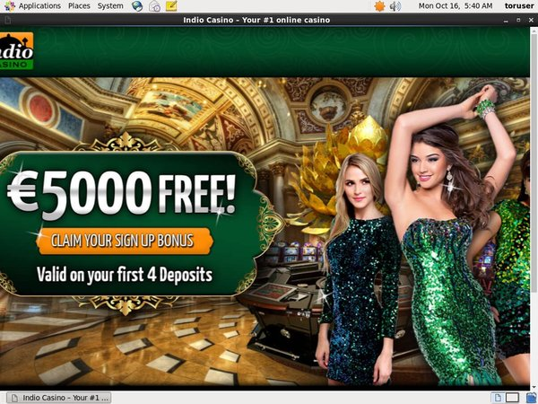 Indio Casino Register Form