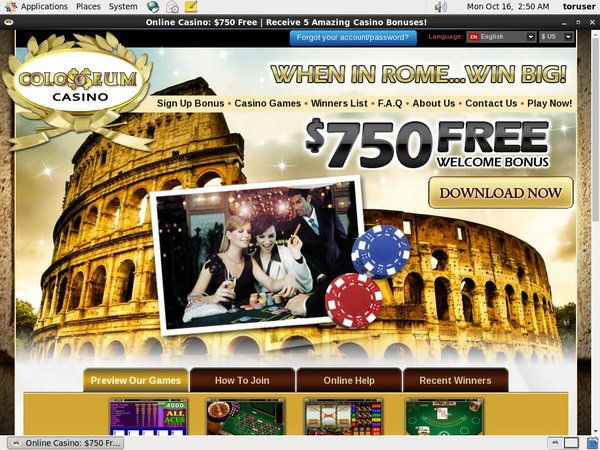 Colosseum Casino Top Bets