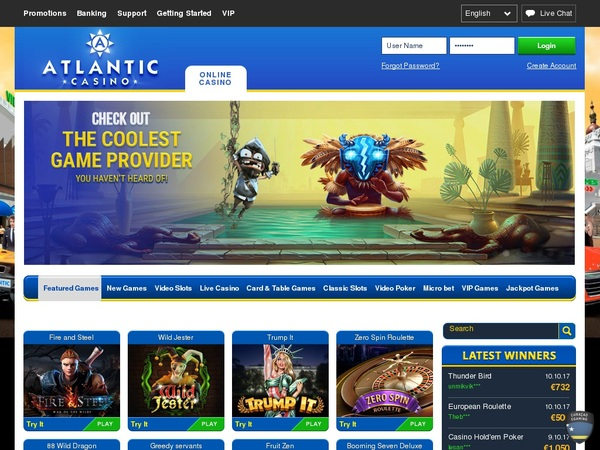 Atlantic Casino 50 Free Spins
