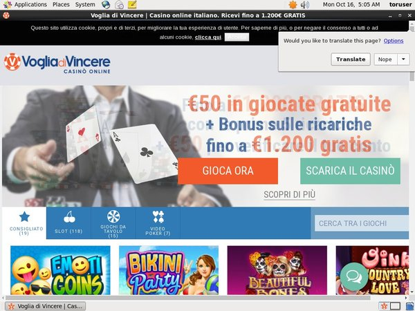 Vogliadivincere Sign Up Deal
