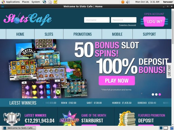 Freespins Slots Cafe