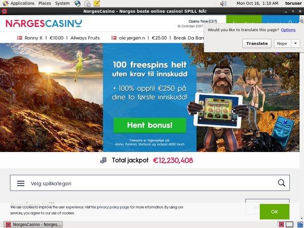 Norges Casino 插槽红利
