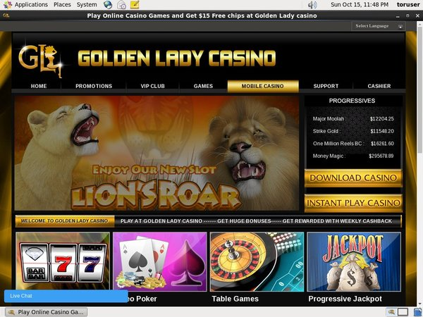Golden Lady Casino Registrese