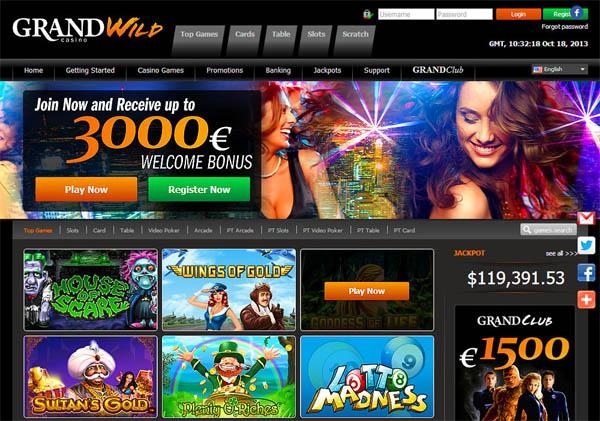 Grand Wild Casino Rekisteröidy